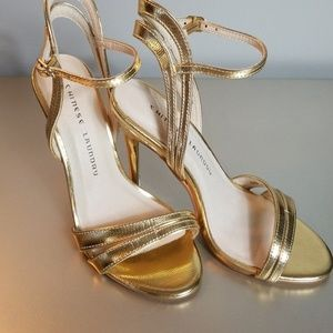 Chinese Laundry gold sandals (Lilliana style)